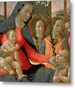 Virgin And Child With St John The Baptist And The Three Archangels Metal Print