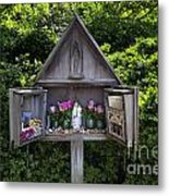 Virgin Mary Shrine Metal Print