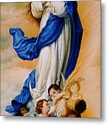 Virgin Of The Immaculate Conception After Murillo Metal Print