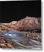 Virgin River At Night 2 Metal Print