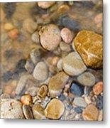 Virgin River Pebbles Metal Print