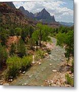Virgin River Through Zion National Park Metal Print