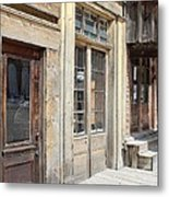 Virginia City Storefronts Metal Print
