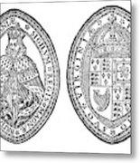 Virginia Company Seal Metal Print