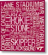 Virginia Tech College Colors Subway Art Metal Print