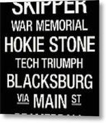 Virginia Tech College Town Wall Art Metal Print by Replay Photos