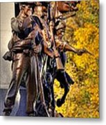 Virginia To Her Sons At Gettysburg - War Fighters - Band Of Brothers 1a Metal Print