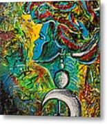 Visage Bleu Metal Print