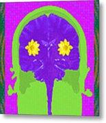 Vision Flowers In The Brain Metal Print