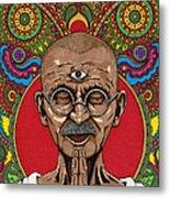 Visionary Gandhi Metal Print