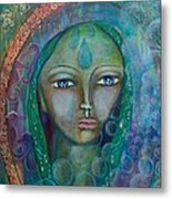Visioning Woman Of Living Waters Metal Print
