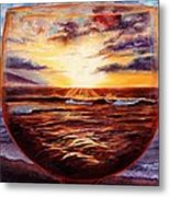 Visions In Merlot Metal Print by Mary Giacomini