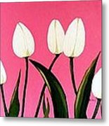 Visions Of Springtime - Abstract - Triptych Metal Print