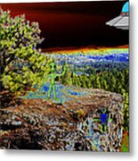 Visiting Rimrock In Spokane Metal Print