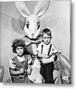 Visiting The Easter Bunny Metal Print