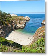 Vista Of China Cove At Point Lobos State Reserve California Metal Print