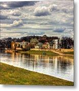 Vistula River In Cracow Metal Print