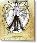 Vitruvian Dr Who Metal Print