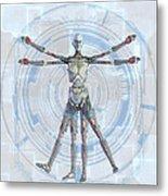 Vitruvian Man 3000 Metal Print by Frederico Borges
