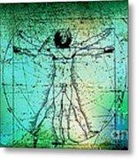 Vitruvian Man Metal Print