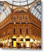 Vittorio Emanuele II Gallery Milan Italy Metal Print