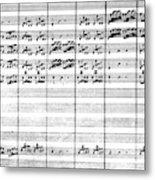Vivaldi Manuscript Metal Print