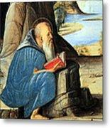 Vivarini's Saint Jerome Reading Metal Print