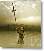 Viviane And The Excalibur Metal Print