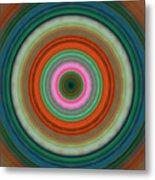 Vivid Peace - Circle Art By Sharon Cummings Metal Print