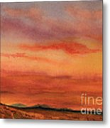 Vivid Sunset Metal Print