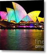 Vivid Sydney 2014 - Opera House 1 By Kaye Menner Metal Print