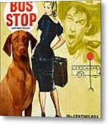 Vizsla Art Canvas Print - Bus Stop Movie Poster Metal Print