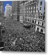 Vj Day Times Square New York City 1945 Color Added 2013 Metal Print