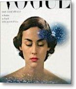 Vogue Cover Featuring Joan Petit Metal Print
