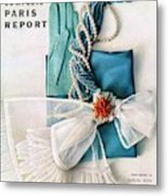 Vogue Cover Featuring Various Accessories Metal Print