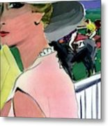 Vogue Cover Illustration Of A Woman Metal Print