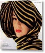 Vogue Cover Of Jean Patchett Metal Print