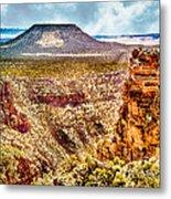 Volcano At Grand Canyon Arizona Metal Print