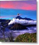 Volcano In The Clouds Metal Print