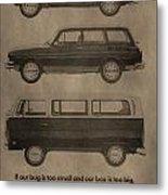 Volkswagen Advertisement Metal Print