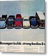 Volkswagen Builds Strong Bodies Eight Ways Metal Print