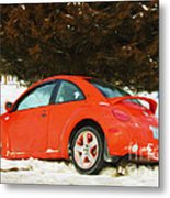 Volkswagen Snow Day Metal Print