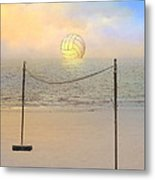 Volleyball Sunset Metal Print