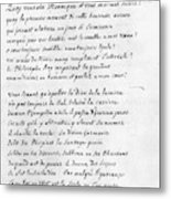Voltaire Letter, 1740 Metal Print