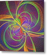 Vortex Abstract Digital Fractal Flame Art Metal Print