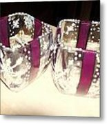 Votives Painted As Wrapped Packages Metal Print