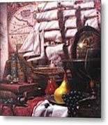 Voyage Round The World Metal Print