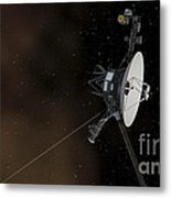 Voyager 1 Spacecraft Entering Metal Print