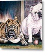 V's Bulldogs Metal Print by Melodye Whitaker