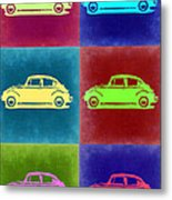 Vw Beetle Pop Art 2 Metal Print by Naxart Studio